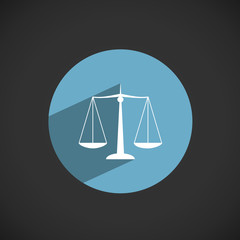 """SCALES OF JUSTICE"" Button (legal advice law lawyer icon)"