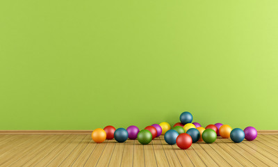Play room with  plastic balls