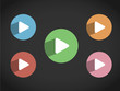 PLAY Icons (watch view video button media player)