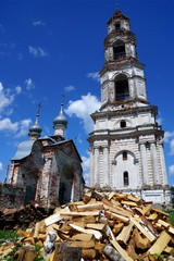 abandoned Orthodox bell tower