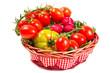 cesto di pomodori misti