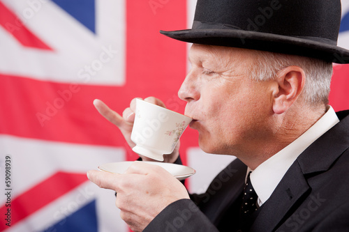 Leinwandbild Motiv Drinking English Tea