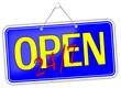 Open 24/7  Geöffnet Schild  #131205-svg02