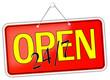 Open 24/7  geöffnet Schild  #131205-svg01