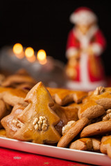 Christmas Gingerbread Cookies. Shallow depth of field.