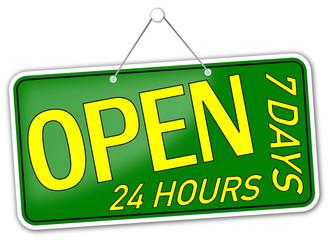 Open 24 7 Schild #131205-svg04