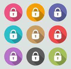 Lock icon - Flat designs