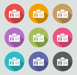 Id card - Flat designs