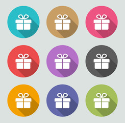 Gift icon - Flat designs