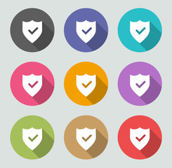 Shield icon - Flat designs