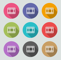 Video icon - Flat designs