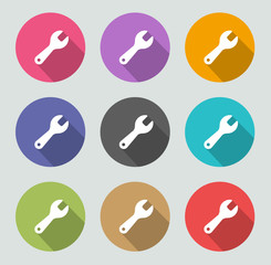 Tools icon - Flat designs