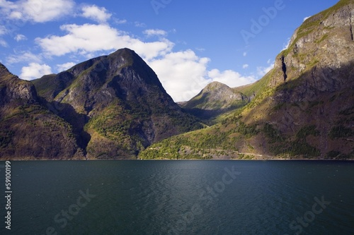 Norway fjord landscape in summer