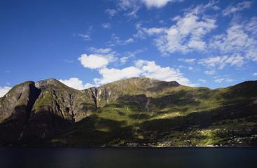 Norway fjord landscape in summer