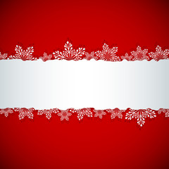 Christmas banner with white copy space.