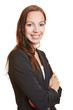 Portrait of business woman with arms crossed