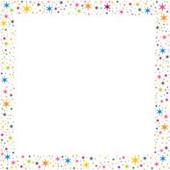 cadre étoilé - carte d'anniversaire