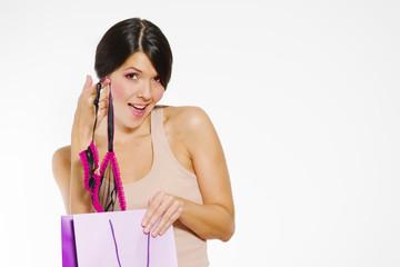 Provokante junge Frau mit Spitzenwäsche