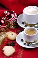 Colazione e atmosfera natalizia