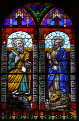 Evangelists Luke and Mark - Stained Glass