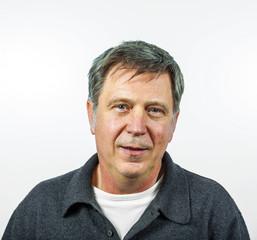 smiling man isolated on white background