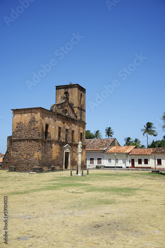 Slave Pillory at Sao Matias Church Alcantara Brazil