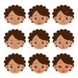 黒人女性の表情セット