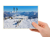 Mountains ski resort (Austria) photography in hand