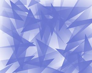 青色を背景にした重なる多角形の背景イラスト
