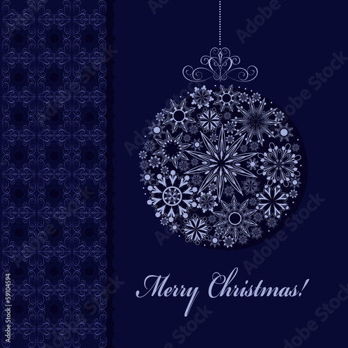 vector illustration holiday ball decoration openwork ornaments