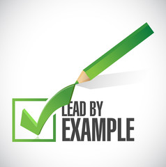 lead by example check mark illustration design
