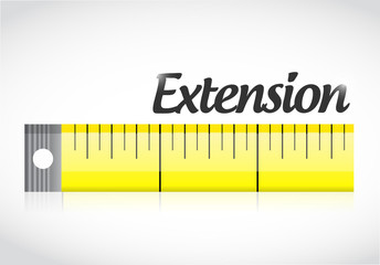extension measure tape illustration design