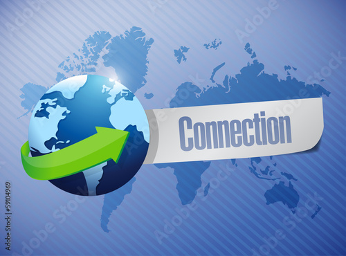 globe connection sign illustration design