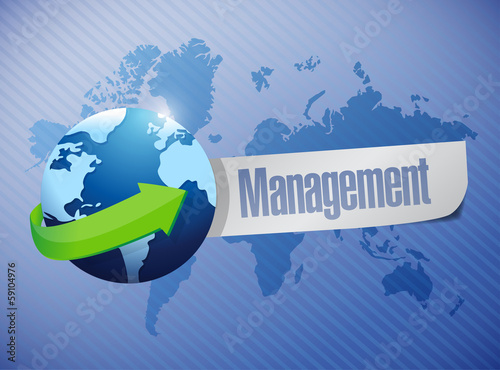 globe management sign illustration design