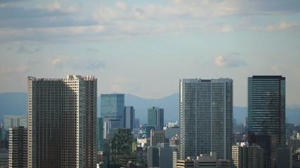 東京都心の高層ビル群イメージ インターバル撮影