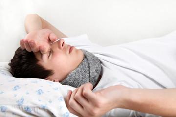 Sick Young Man sleeping