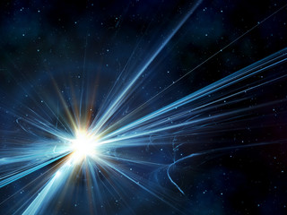 sunburst in space