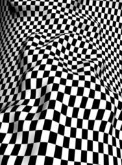 Black-white  checkered plane