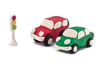 plasticine cars