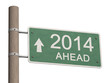 New Year 2014 sign. 3d illustration