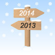 New Year 2014 sign. Vector illustration
