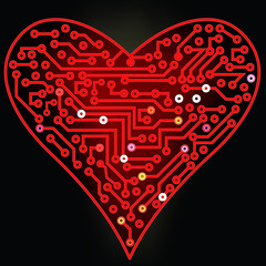 Red Digital Heart