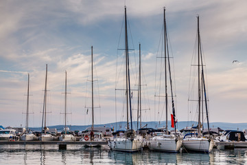 Nautical Yachts in Marina of Baska Voda, Dalmatia, Croatia
