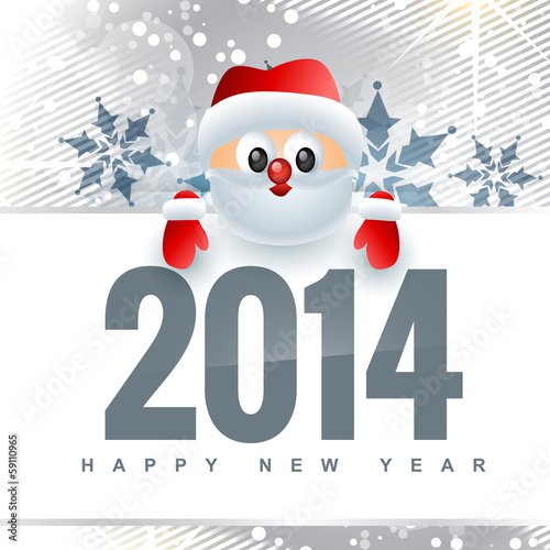 new year design with santa claus