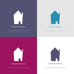house symbol collection - corporate / real estate