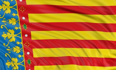 3D Valencia flag
