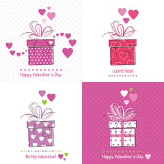 cute valentine`s day cards collection