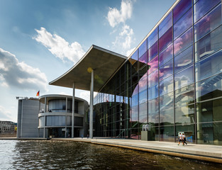 German Chancellery (Bundeskanzleramt) Building near Reichstag in