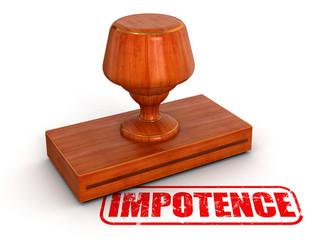 Rubber Stamp impotence (clipping path included)