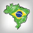 Brasilien Karte Skizze